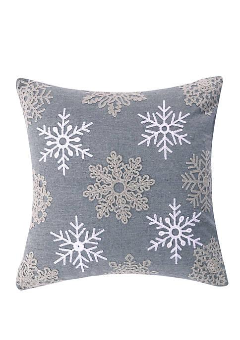 Rudolph Snowflake Pillow