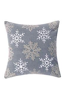 Levtex Rudolph Snowflake Pillow