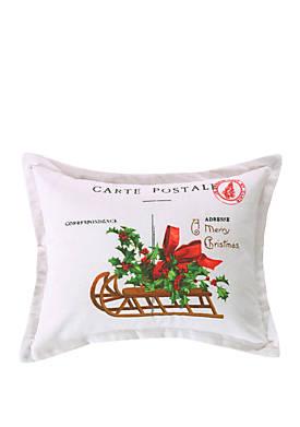 Yuletide Carte Postal Pillow