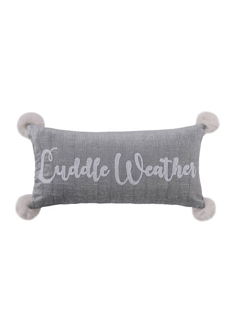 Winterland Cuddle Weather Pillow 12 in x 24 in