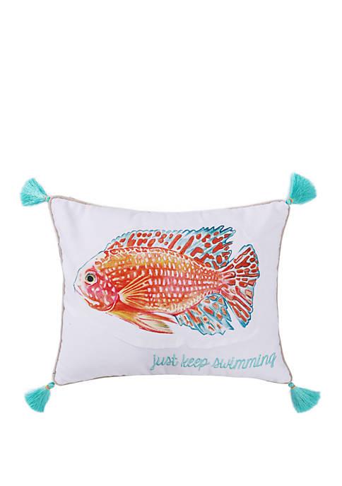 Cape Barren Just Keep Swimming Pillow
