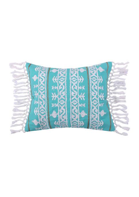 Levtex Deniza Embroidered Fringe Pillow
