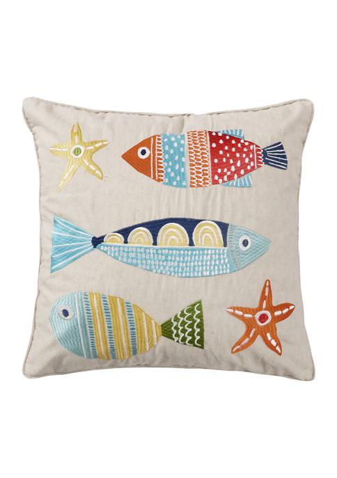 Levtex Home St. Anton Multi Color Fish Pillow