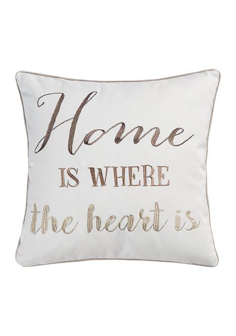 Levtex Home Angelina Linen Home Heart Tassel Pillow