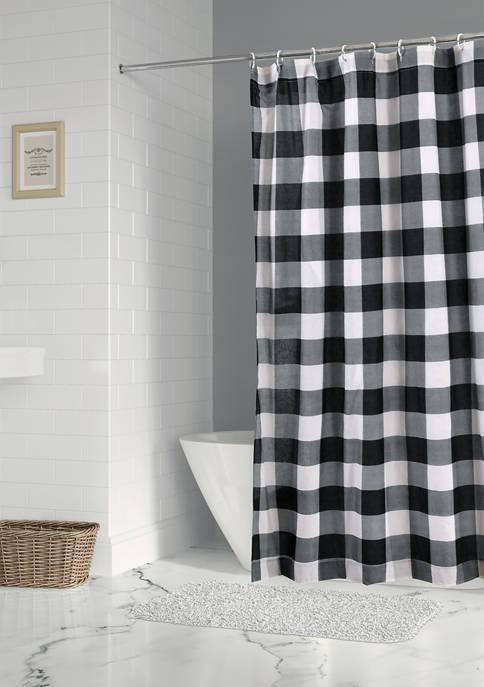 Levtex Camden Black Shower Curtain