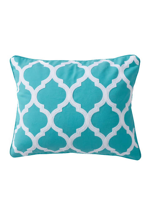 Levtex Home Karolynna Teal Lattice Pillow