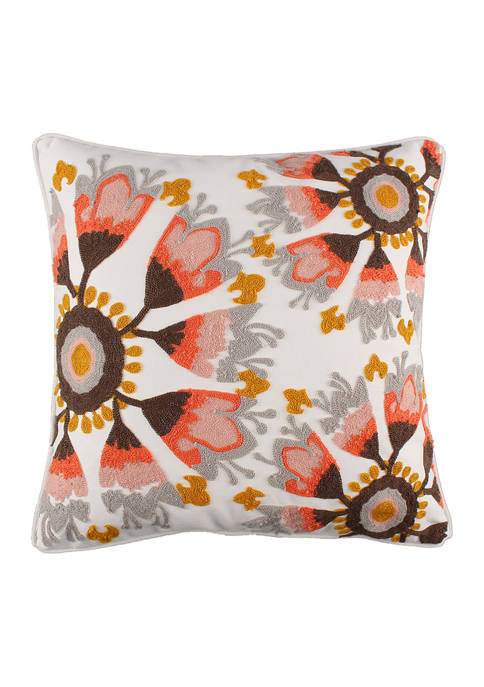 Levtex Home Melina Crewel Blush Medallion Pillow