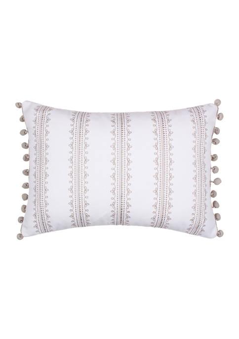 Levtex Novara Gray Stripe Pillow