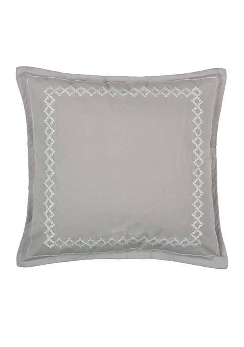Levtex Novara Gray Diamond Embroidered Pillow