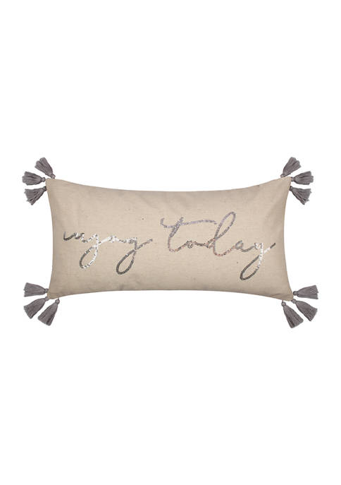 Levtex Novara Gray Enjoy Today Pillow