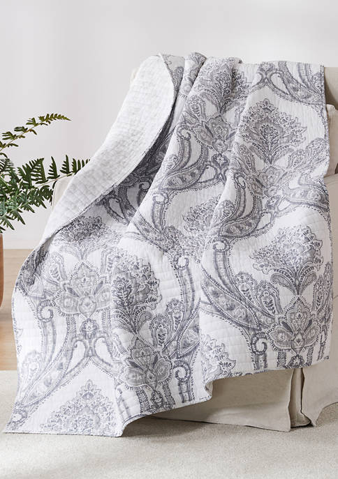 Levtex Novara Gray Quilted Throw