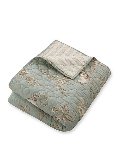 Levtex Tamir Teal Quilted Throw