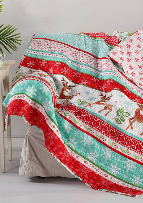 Levtex Home Let It Snow Quilted Throw