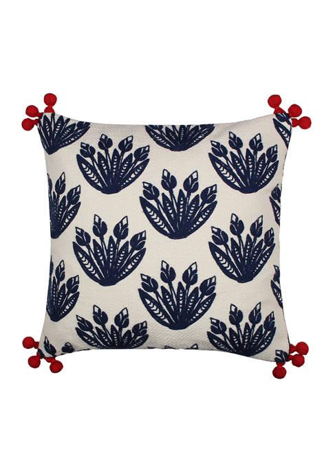 Levtex Nanette Crewel Pom Pillow