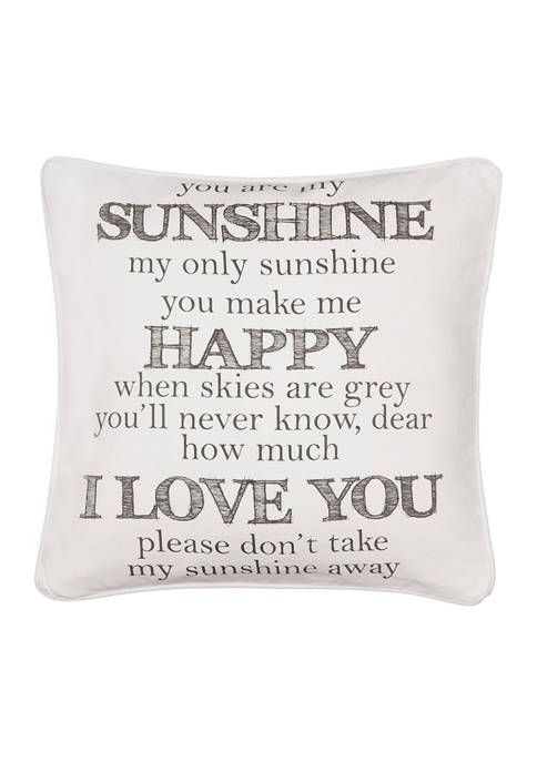 Levtex Home You Are My Sunshine Word Pillow