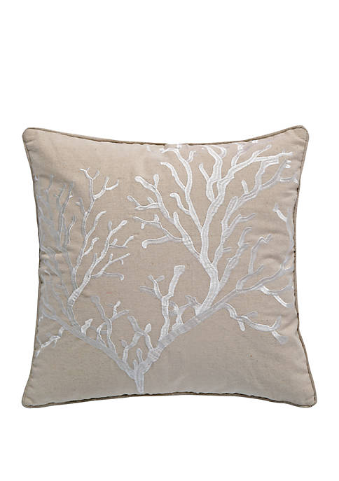 Levtex Home Bahamas Coral Taupe Pillow