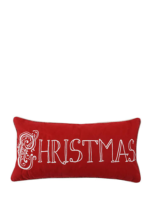 Levtex Noelle Christmas Embroidered Pillow