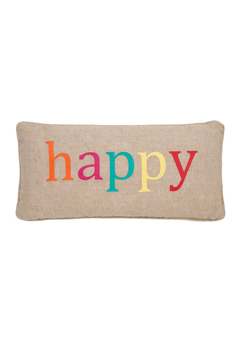 Levtex Home Ariana Happy Multicolored Pillow