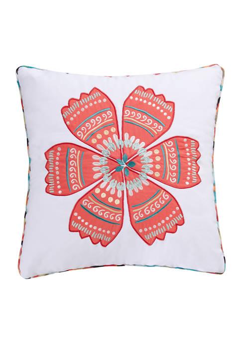 HomThreads Corona Flower Pillow