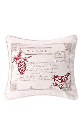 Noelle Bird Postcard Pillow