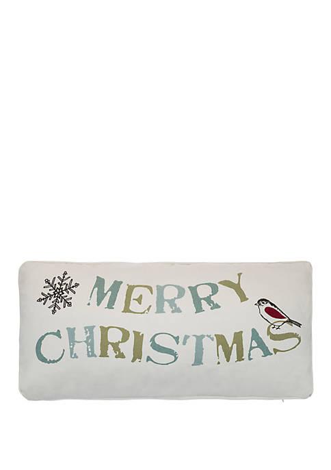 Levtex Holly Merry Christmas Pillow