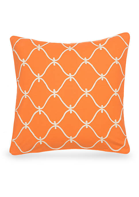 Levtex Frodo Orange Rope Pillow