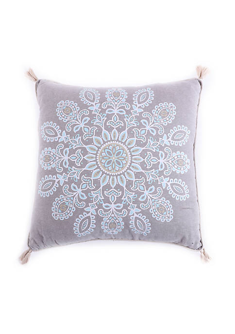 Wythe Spa Medallion Pillow With Tassels