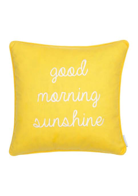 Yellow Good Morning Sunshine Pillow