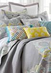 Cressley Embroidered Fringe Pillow