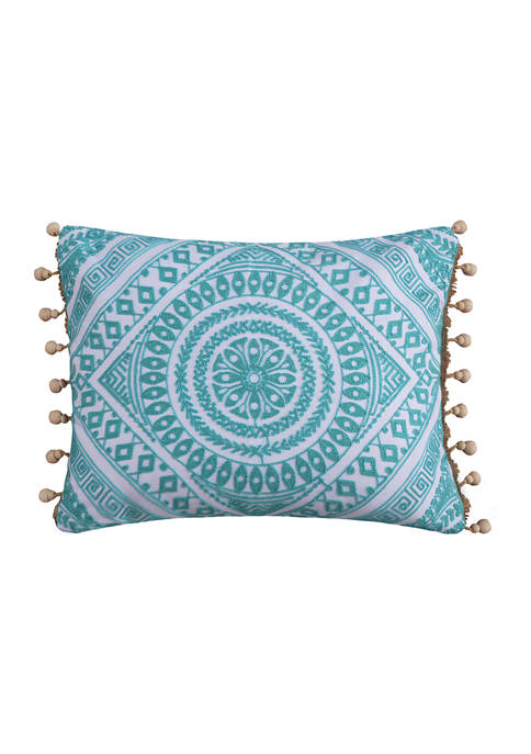 Levtex Cressley Embroidered Bead Pillow