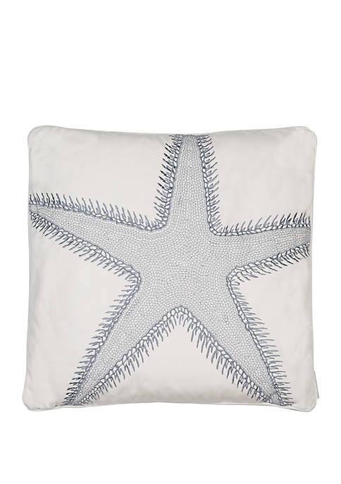 St Bart Stripe Starfish Pillow