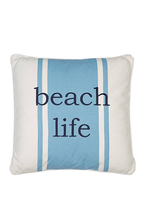 Levtex Home St Bart Stripe Beach Life Pillow