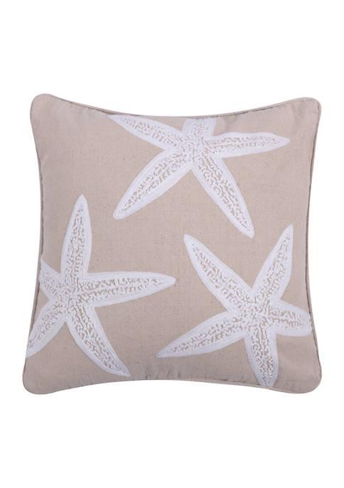 Levtex Home Appliquéd Starfish Pillow