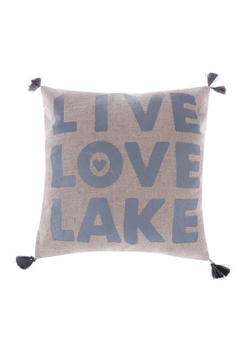 Levtex Home Live Love Lake with Tassels Pillow
