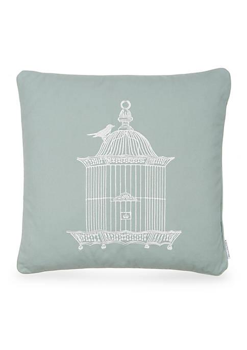 Levtex Octavio Teal Birdcage Pillow