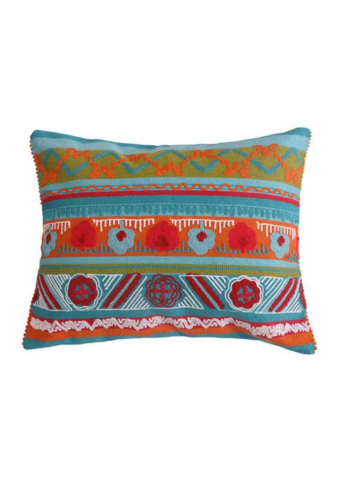 Levtex Home Mirage Crewel Multi Poms Pillow