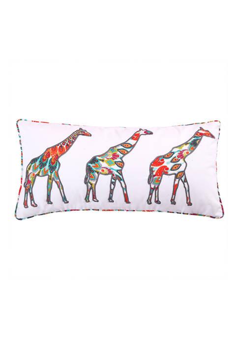 Levtex Home Mirage Appliquéd Giraffes Pillow