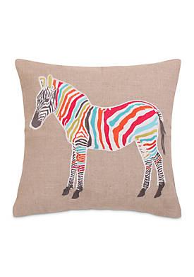 Azalea Zebra Sparkle Pillow
