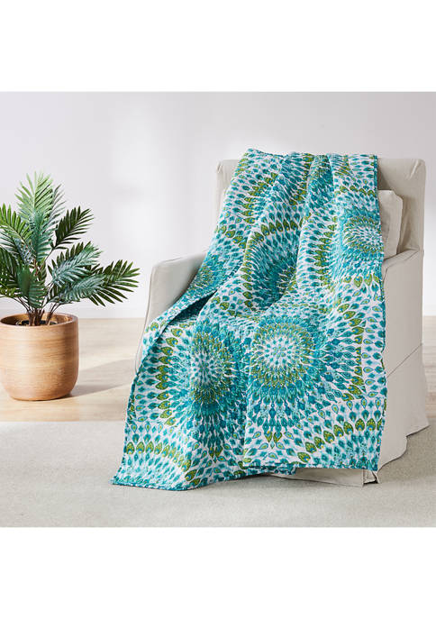 Levtex Home Mirage Teal Quilted Throw