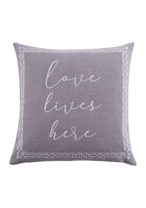 Levtex Home Briar Embroidered Ochre Pillow