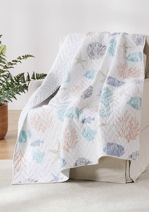 Blue Sea Quilted Throw