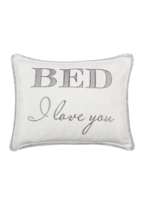Fallon Bed I Love You Pillow