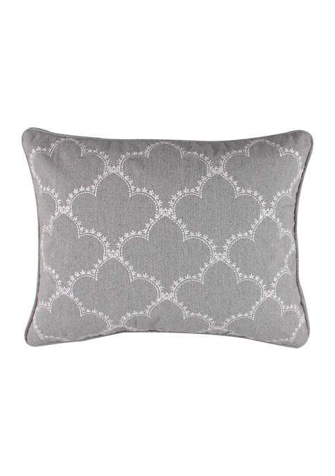 Levtex Home Kiana Yellow Gray Lattice Pillow