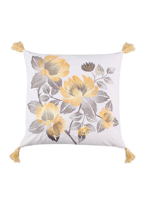 Levtex Home Kiana Yellow Flowers Pillow