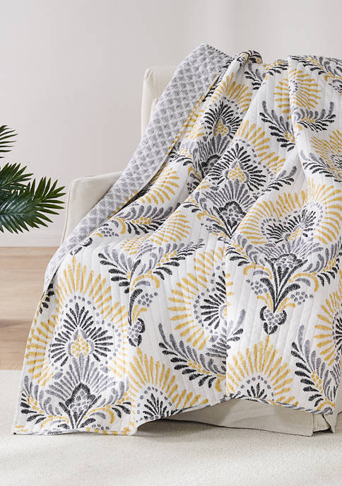 Levtex Home Kiana Yellow Quilted Throw