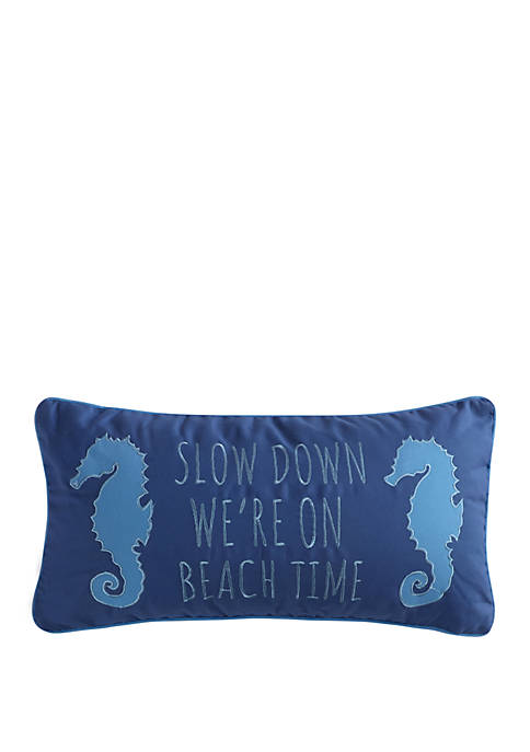 Levtex Home Dory Slow Down Seahorse Pillow