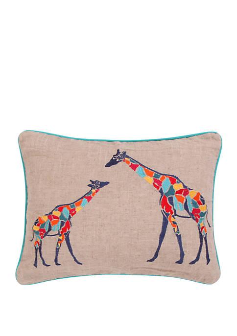 Mackenzie Giraffes Pillow