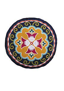 Lira Round Medallion Pillow