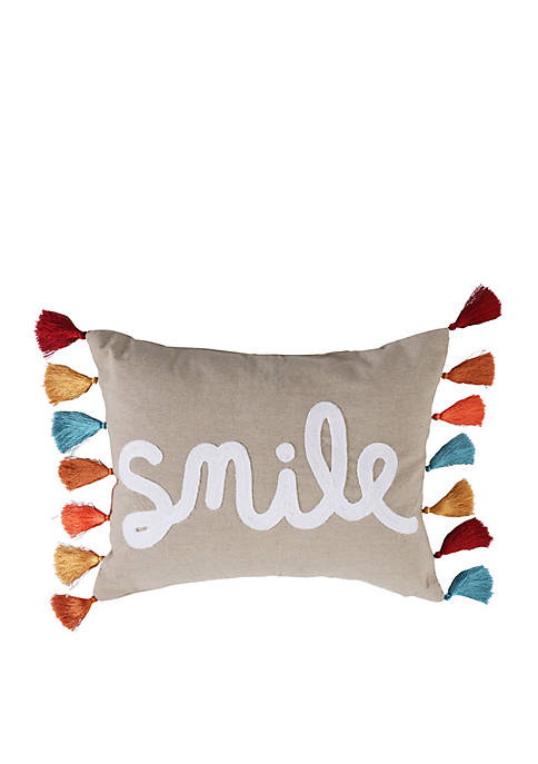 Lira Smile Pillow with Tassels