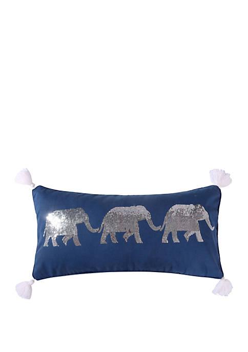 Levtex Home Giselle Sequin Elephants Pillow